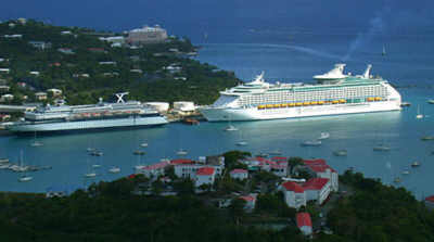 Cruise ships in St. Thomas Harbor